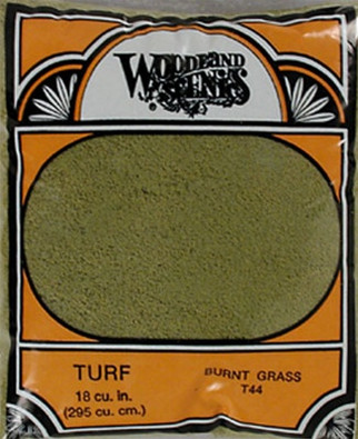 T44 Woodland Scenics Fine Turf Burnt Grass 12oz
