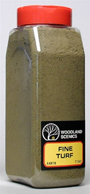 T1342 Woodland Scenics  Fine Turf Earth 32 oz