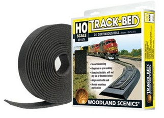 ST1474 Woodland Scenics HO Scale Track-Bed Roll 24' Continuous Roll