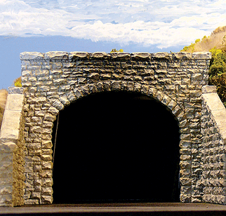 8370 HO Chooch Enterprises Double Random Stone Tunnel