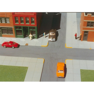 699-7000 Rix Products HO KIT 10'x40' City Sidewalks (6)