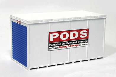 ... PODs Moving and Storage Container (2) Assembled. Image 1 & 615 N Scale BLMA PODs Moving and Storage Container (2) Assembled - T ...