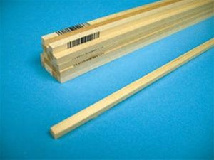 """6068 Midwest Products Balsa Wood 1/4"""" x 3/8"""" x 36"""""""