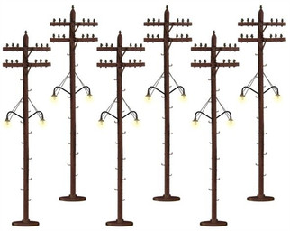6-37995 O Lionel Lighted Telephone Poles