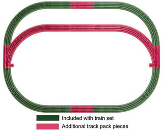 6-12031 Lionel O Fastrack Outer Passing Loop Add-on Track Pack