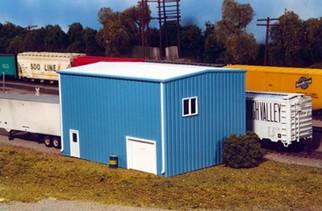 541-0016 HO Rix Products Pikestuff-3 Size Modern Yard Office Kit