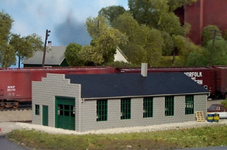 541-0009 HO Rix Products Pikestuff-Service Garage-Machine Shop Kit