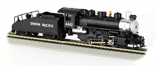 50603 HO Bachmann USRA 0-6-0 Locomotive w/Smoke & Slope Tender-Union Pacific #4442(silver & black)