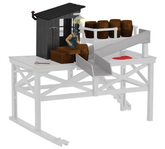 6-81017 O Scale Lionel Barrel Loading Building