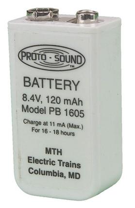 50-1008 MTH O Proto-Sound Battery (Ni-MH 120 mah 9-V Size)