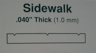 """4517 Evergreen Scale Models Sidewalk 3/8"""" Spacing"""