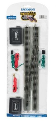44876 Bachmann N Scale E-Z Track #6 Single Crossover Turnout - Right