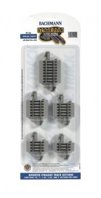 44592 HO Bachmann E-Z Track Assorted Straight Track Sections (10)