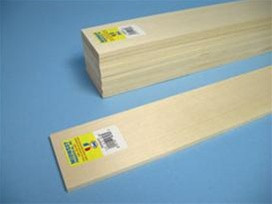 4105 Midwest Products Co. Basswood Sheets 3/16x1x24