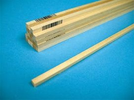 4055 Midwest Products Co. Basswood Strips 3/16x3/16x24
