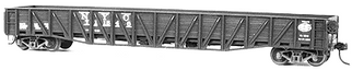 4041 HO Tichy Train Group War Emergency Composite Mill Gondola -Undecorated (Plastic Kit)