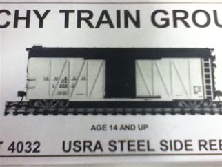 4032 HO Tichy Train Group USRA Steel Side Rebuild Ribs/Steel Panels Kit
