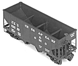 4027 HO Tichy Train Group 36' USRA 2-Bay Open Steel Hopper -Undecorated (Plastic Kit)