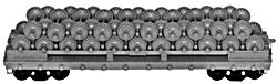 4023 HO Tichy Train Group 40' Company Wheel Service Flatcar w/Load -Undecorated (Plastic Kit)