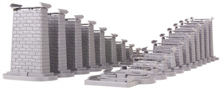 40-1113 O MTH RailKing RealTrax-24 Piece Graduated Trestle System for Lionel Fastrack