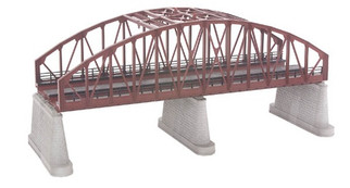 40-1109 O MTH RailKing 2-Track Steel Arch Bridge-Rust