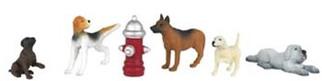 33158 Bachmann O Dogs w/Fire Hydrant (6)