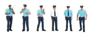 33154 Bachmann O SceneScapes Miniature Figures Police Squad