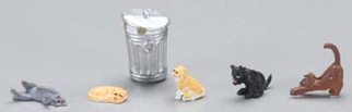 33107 HO Bachmann Cats w/Garbage Can