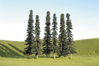 """32003 Bachmann HO 5"""" - 6"""" Conifer Trees (six pieces per pack)"""