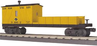 30-79441 O MTH RailKing Crane Tender Car-Lehigh Valley