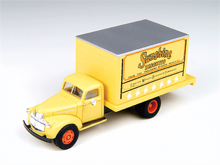 30333 HO Classic Metal Works Mini Metals '41/46 Chevrolet Delivery Truck-Sunshine Delivery