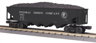30-75511 O Scale MTH RailKing 4-Bay Hopper Car-Potomac Edison Company
