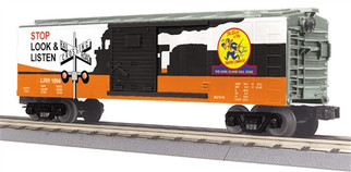 30-74826  O Scale MTH RailKing Box Car w/Blinking LEDs-Long Island