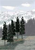 "TR1582 Woodland Scenics Conifer Green and Conifer Blend Colors (6""- 8""  12/pkg)"
