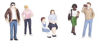 30-11047 O Scale MTH RailKing 6-Piece Figure Set#3 Diner Patrons