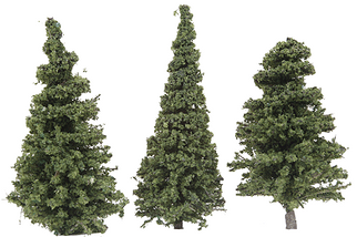 "295-T3 Grand Central Gems 3"" Tall Small Pine Trees (50)"
