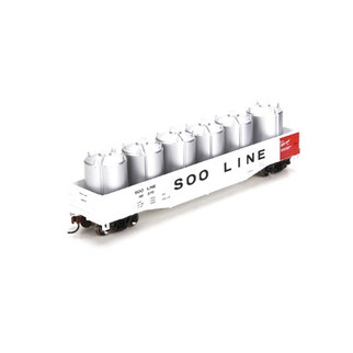 29341 HO Scale Athearn RTR 50' Gondola w/Canisters Load-SOO Line #68279