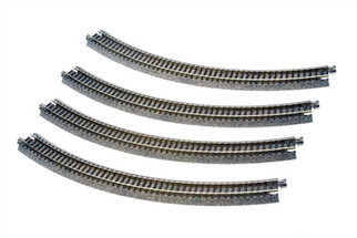 "20-120 Kato Unitrack N Scale  12-3/8"" Radius Curve 45 Degree (4)"