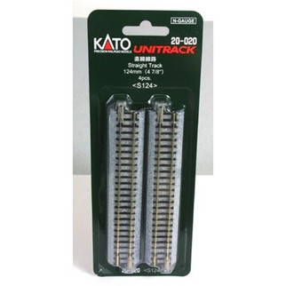 "20-020 Kato Unitrack N Scale  4-7/8"" Straight (4)"
