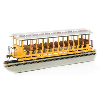 19348 Bachmann Industries HO Open Excursion Car, Yellow & Silver