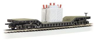 18348 HO Bachmann 52' Center Depressed Flat Car w/Transformer