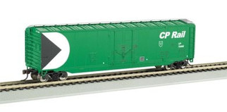 "18027 HO Bachmann 50"" Plug-Door Box Car-CP Rail(Green)"
