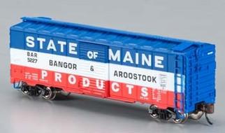 17056 N Scale Bachmann 40' Boxcar-Bangor & Aroostoock