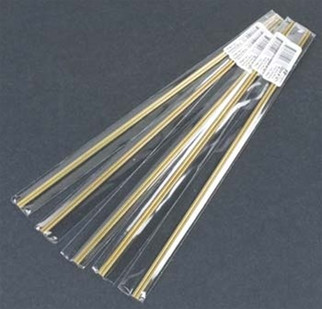 """1671 K&S Engineering Brass Rod .114"""" (2) REPLACES 167"""