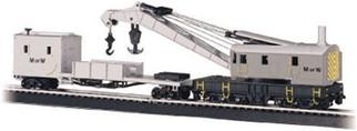 16138 Bachmann HO 250-Ton Steam Crane & Boom Tender