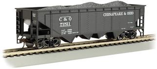 17605 HO Bachmann 40' Quad Hopper-Chesapeake & Ohio #71511
