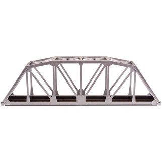 0889 Atlas HO Code 100 Through Truss Bridge- Silver  Kit