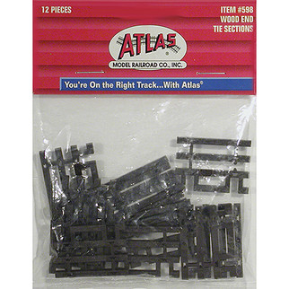 0598 Atlas HO Code 83 Track Flex-Track End Ties (Brown)