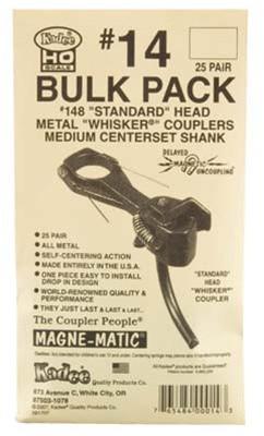 14 Kadee Metal Whisker Self-Centering Knuckle Cpler Bulk (25)