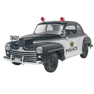 85-4318 Revell '48 Ford Police Coupe 2n1 1/25 Scale Plastic Model Kit